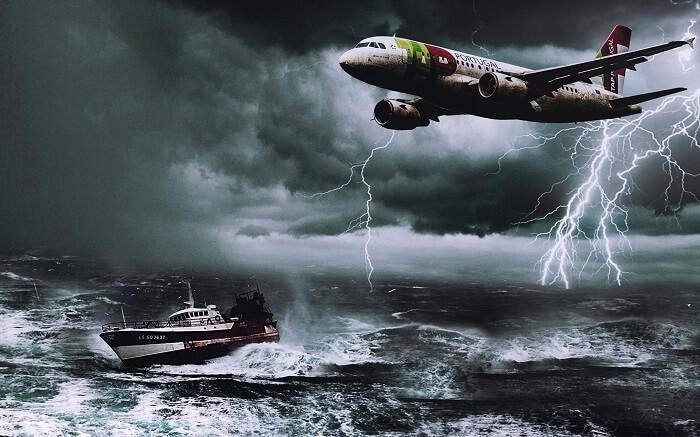 desaparecen barcos y aviones